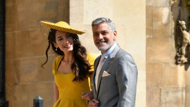 George Clooney plays bar man at Royal wedding reception