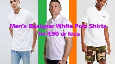 Men's Plain White Designer Polo Shirts for €50 or less