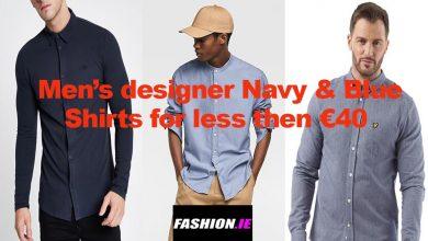 Men's designer Navy to Blue Shirts for under €40