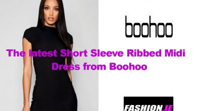 Dress review Teen Ribbed Midi Dress from Boohoo