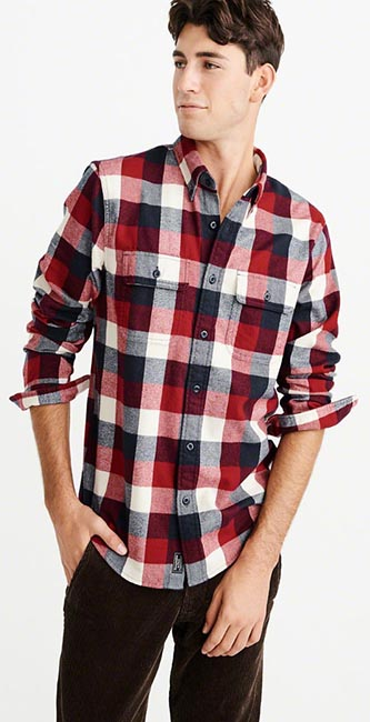 Abercrombie & Fitch Checked Flannel Shirt