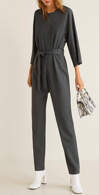 Bow Long Jumpsuit from Mango