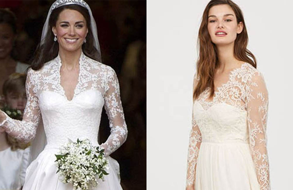 H&M launch Kate Middleton Replica Wedding Dress