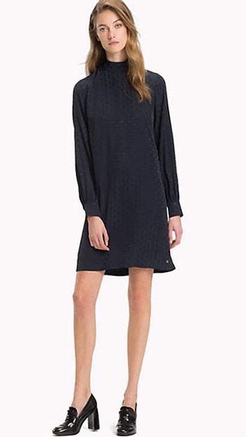Jacquard Polka Dot Dress from Tommy Hilfiger