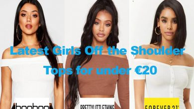 Latest Girls Off the Shoulder Tops for under €20