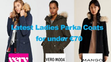 Latest Ladies Parka Coats for under €70
