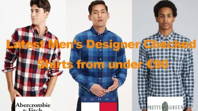 Latest Men's Designer Checked Shirts for under €90