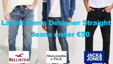 Latest Men's Designer Straight Cut Jeans under €50