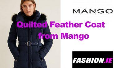 Latest fashion: Quilted Feather Coat from Mango