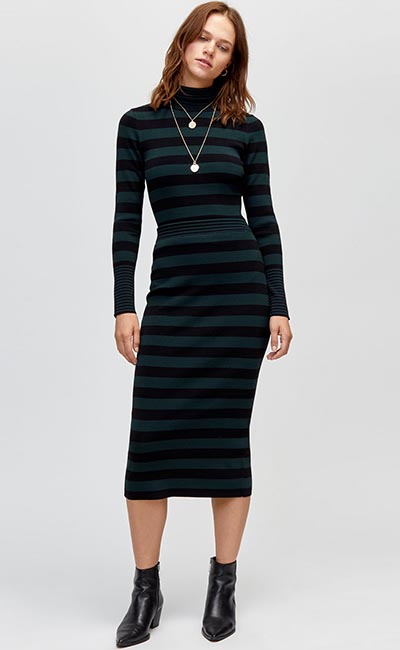 Striped Pencil Dress from Warehouse