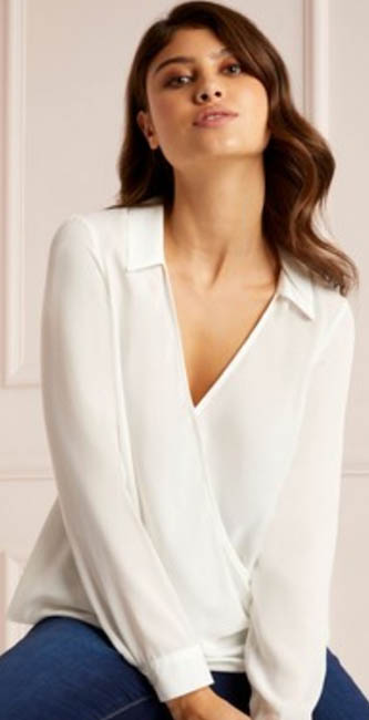 Lipsy Wrap Collar Blouse from Next