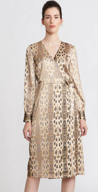 Paul Costelloe Living Studio Satin Wrap Dress from Dunnes Stores