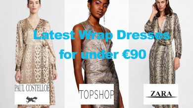 The Latest Ladies Wrap Dresses for under €90