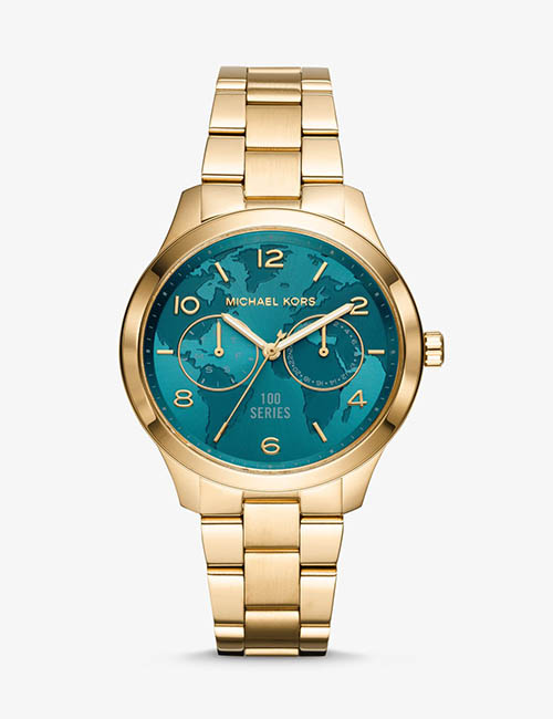 Watch Hunger Stop Runway Gold-Tone Watch from Michael Kors