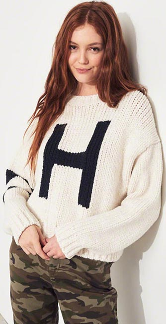 Boyfriend Logo Sweater from Hollister