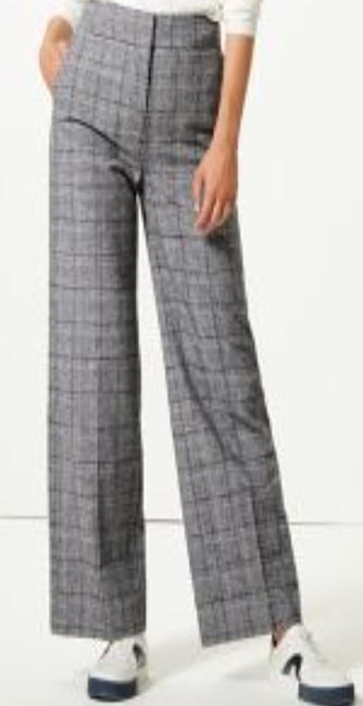 Checked Wide Leg Trousers from M&S