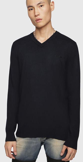 Cotton V-Neck Pullover from Diesel