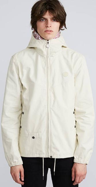 Cotton Zip Up Hooded Jack from Pretty Green