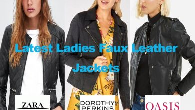 Latest Ladies Faux Leather Look Jackets