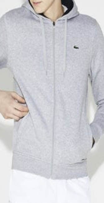 Men's Zipped Fleeced Hoody from Lacoste