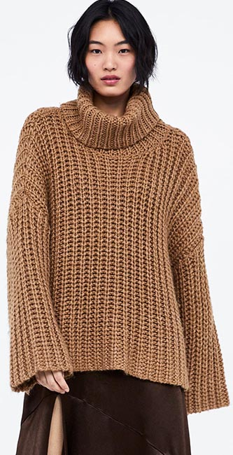 Oversized Turtleneck Sweater from Zara