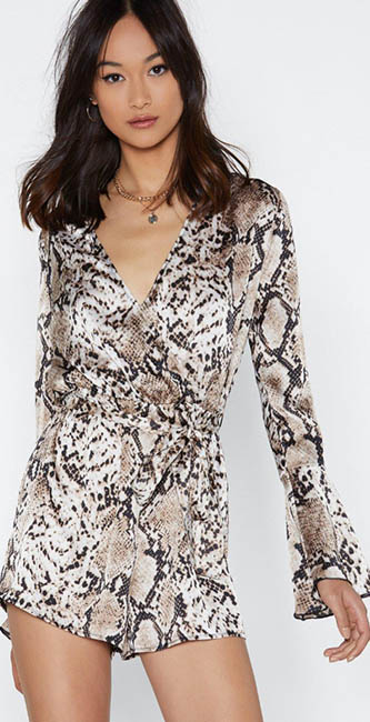 Snake You Believe Romper from Nasty Gal