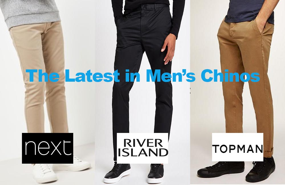 The Latest in Men's Chinos for under €36