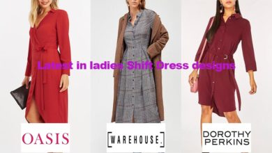 The latest fashion in ladies shirt dress designs
