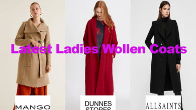 The latest fashion in ladies woollen overcoats