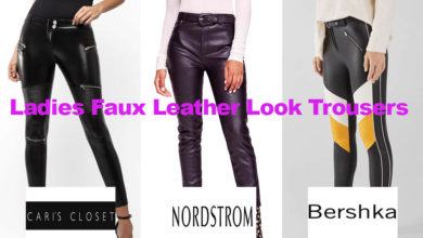 The latest in ladies faux leather trouser fashion