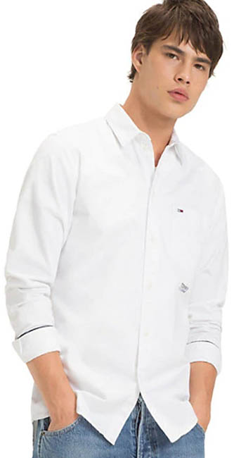 Tommy Hilfiger Cotton Solid Twill Shirt