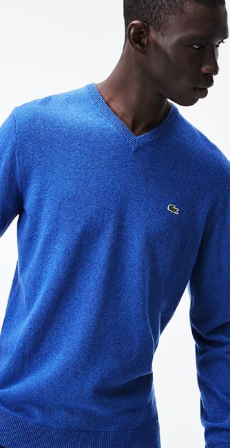 Woollen V-Neck Sweater from Lacoste