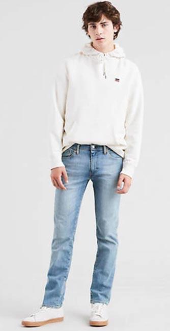 Front view of Men's Levi 511 slim fit jeans