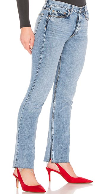 Addison high-rise split boot jeans from Revolve