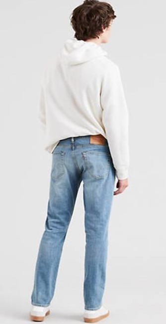 Rear view of Men's Levi 511 slim fit jeans