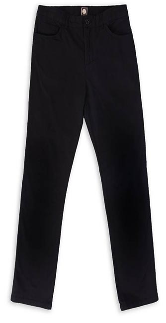 Black Cotton Twill Trousers from Pretty Green