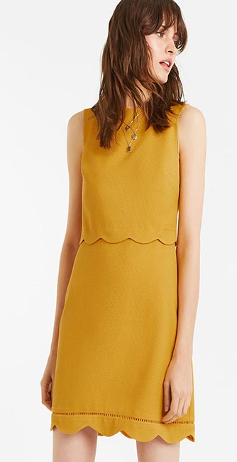 Front view of this Scallop double layer dress from Oasis