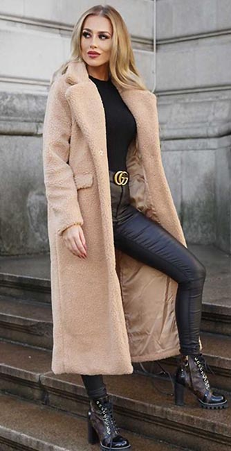 Front view of this Teddy coat from Cari's Closet