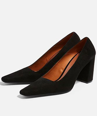 Genna black court shoes from Topshop
