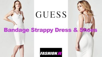 Latest fashion Bandage dress and shoes from Guess