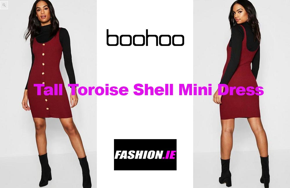 Latest fashion Button micro mini dress from Boohoo