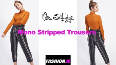 Latest fashion Mono Striped Trousers from Miss Selfridge