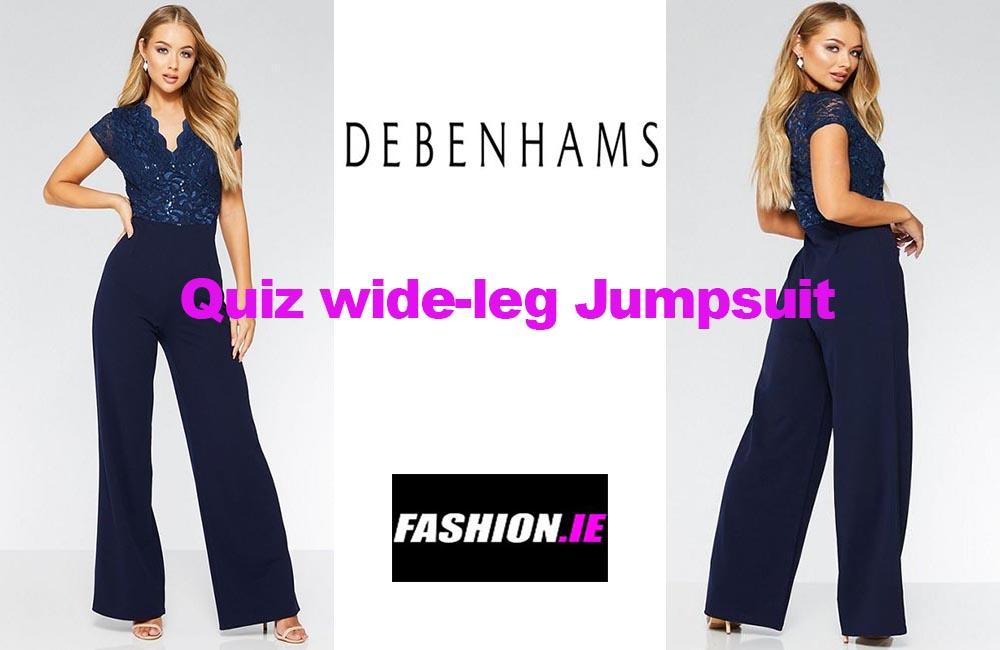 Latest fashion Quiz navy jumpsuit from Debenhams