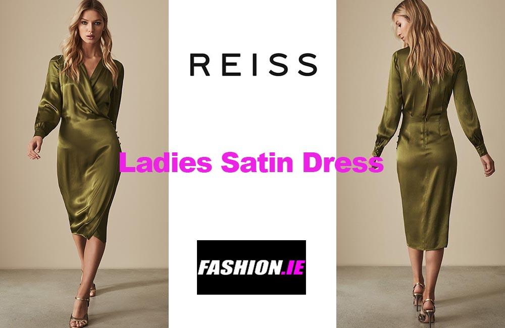 Latest fashion Renae Satin Wrap dress from Reiss