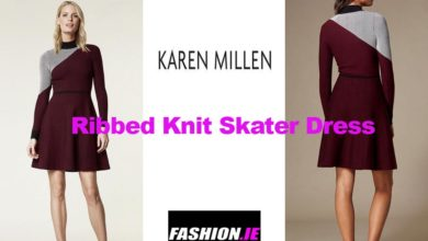 Latest fashion Ribbed knit skater dress from Karen Millen