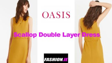 Latest fashion Scallop double layer dress from Oasis