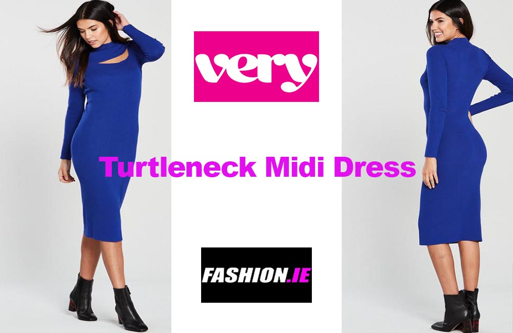 Latest fashion Turtleneck Midi Dress by Very