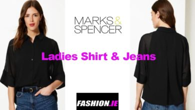 Latest fashion ladies shirt & jeans from M&S