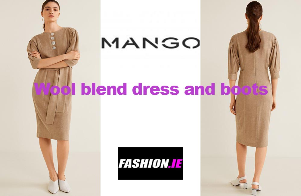Latest fashion Wool blend dress and boots from Mango