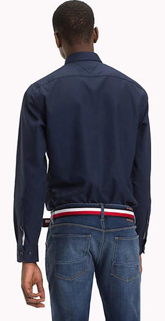 Rear view button down collar shirt from Tommy Hilfiger